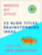 32-PRO-32 BLOG TITLES BRAINSTORMING IDEA