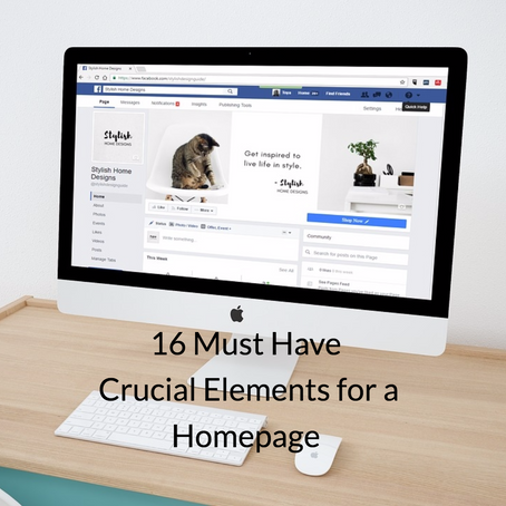 16 Elements any Home Page Must Have