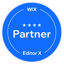 WIX Partner in Editor X Badge