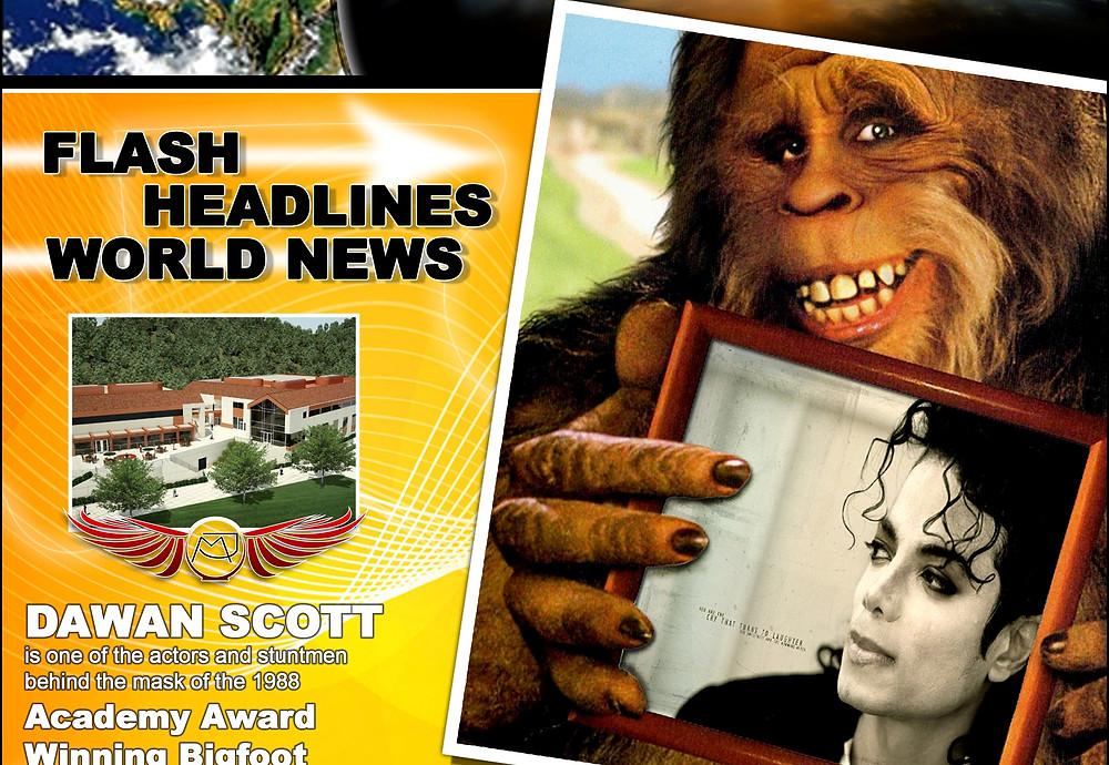 Dawan Scott Bigfoot holding Mechael Jackson Portrait