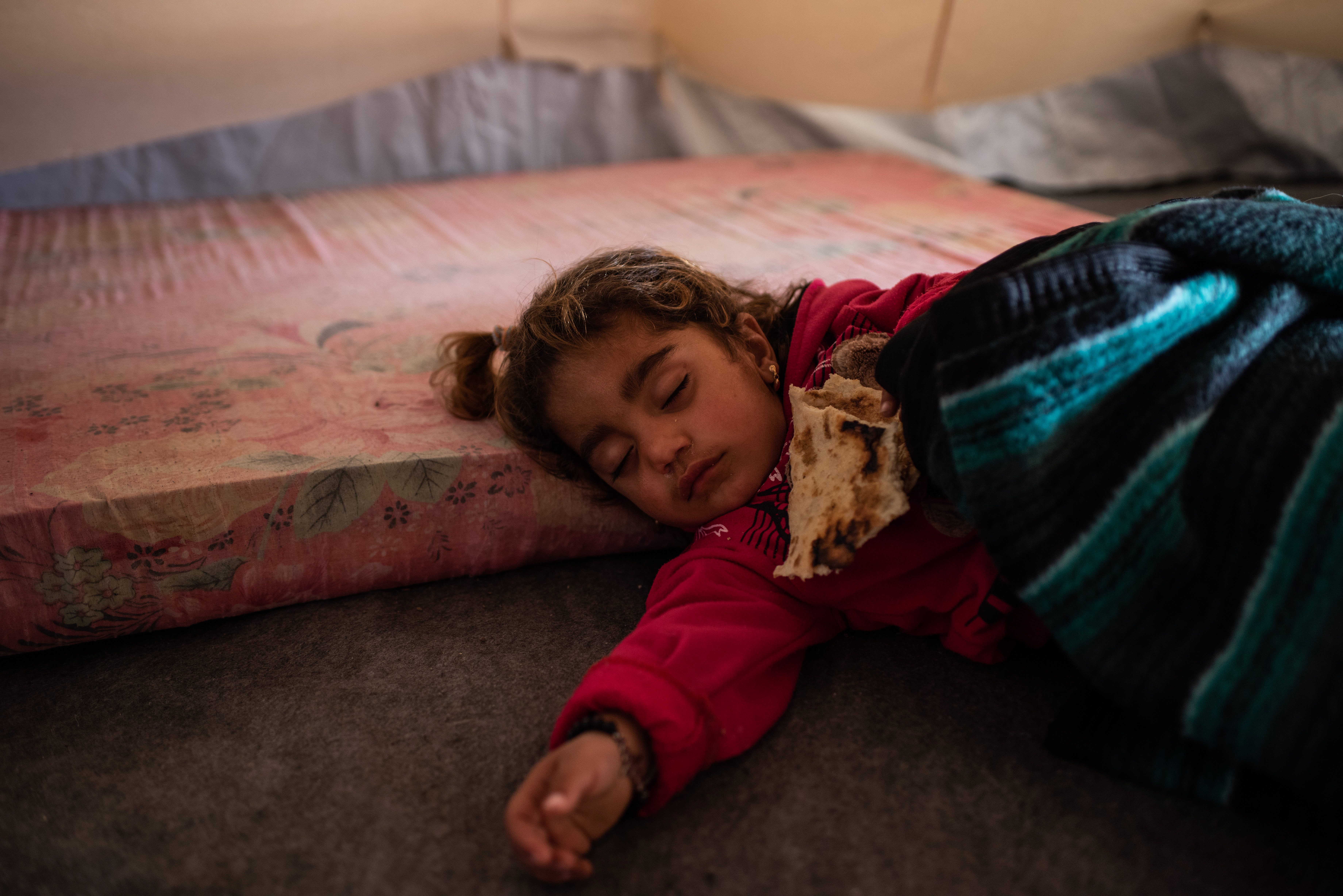"""""""Count to Two"""" - portrait of a young Syrian girl living as a refugee in a refugee camp in northern I"""