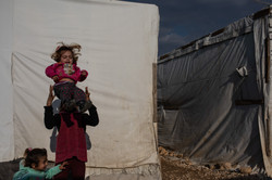 """""""Count to Two"""" - portrait of young Syrian girls living as refugees in an informal settlement in the"""
