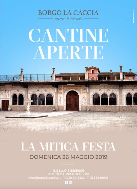 CANTINE APERTE - LA MITICA FESTA 26 Maggio 2019