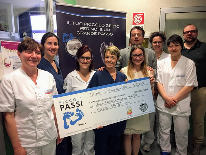 Bardonecchia dona 3.000€ ai bimbi del Sant'Anna