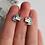 Thumbnail: ЕДИНОРОЖКИ Серебряные серьги на петле  с эмалью (родироание).