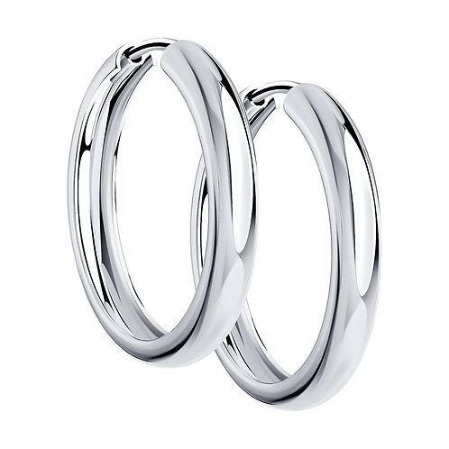 Серебряные серьги кольца.