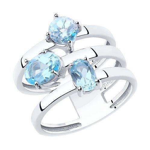 Серебряное кольцо с топазами.