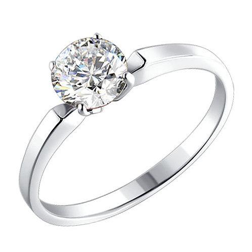 Помолвочное кольцо с одним камнем