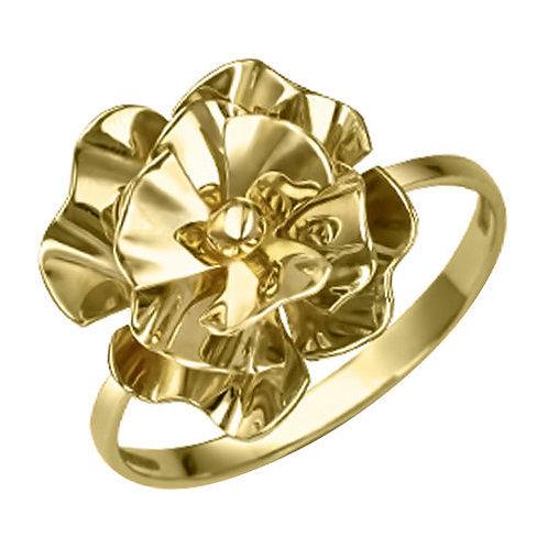 Кольцо  из желтого золота РЮШ