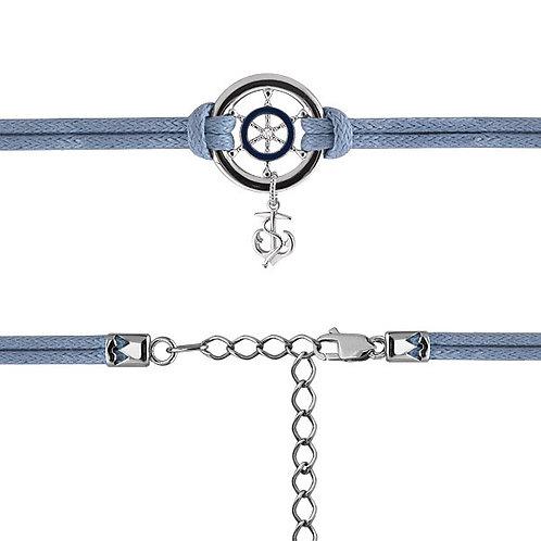Браслет-шнур с серебром.