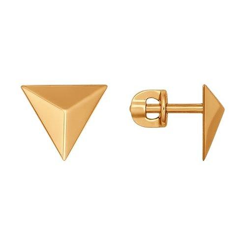 Серьги пусеты. Конвертик триугольник.