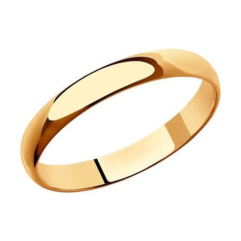 Кольцо обручальное 3мм