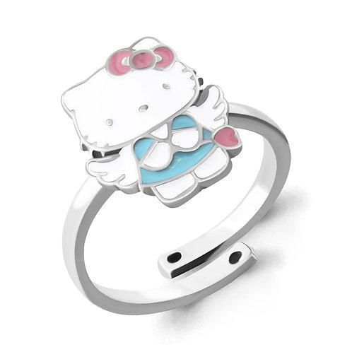 Серебряное кольцо с эмалью.