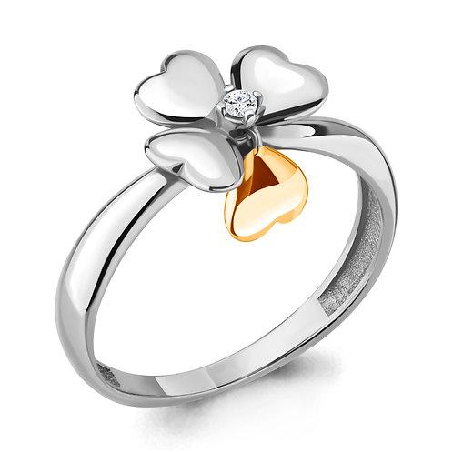 """Серебряное кольцо """"Цветок""""."""