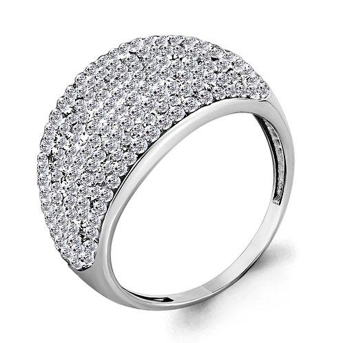 Серебряное кольцо со стеклом.
