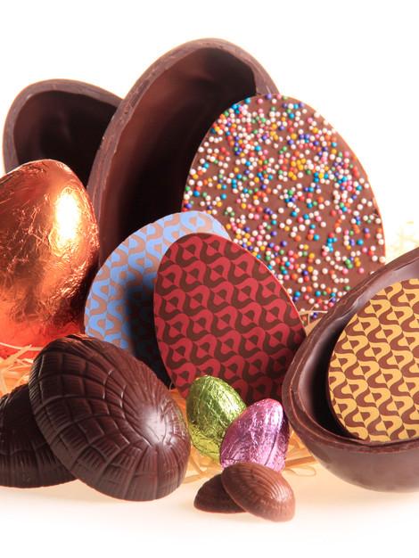 Fotografia de produtos feitos com chocolate