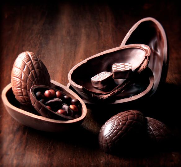 Ovos de chocolate da Cuore di Cacao, Curitiba, Brasil