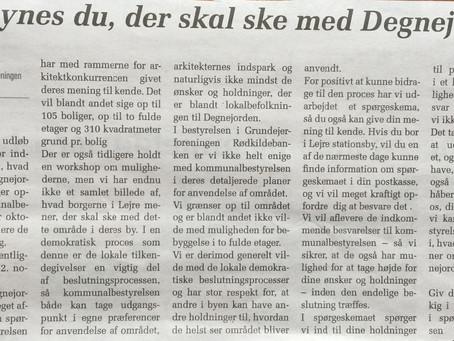 Mød op 9. okt. kl. 10 og tal med Venstre i dommerkomiteen på Degnejorden!