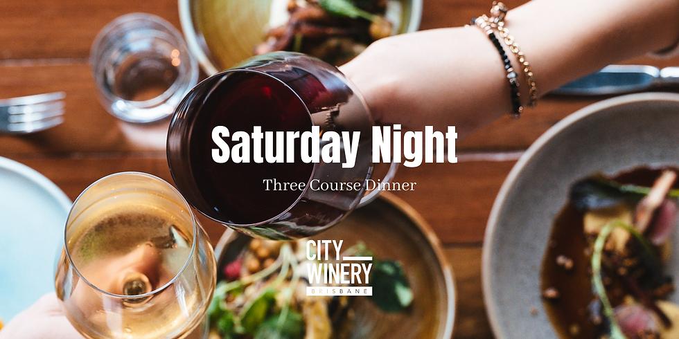 Saturday Night - Three Course Dinner
