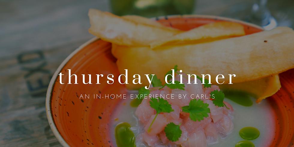 Thursday In-home Dinner