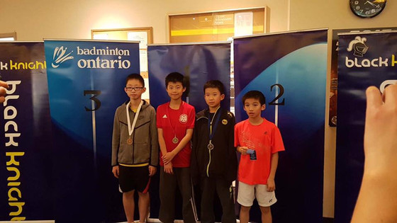 17.18 BLACK KNIGHT Badminton Ontario Jr HP A #5 - Mandarin - U13 U17