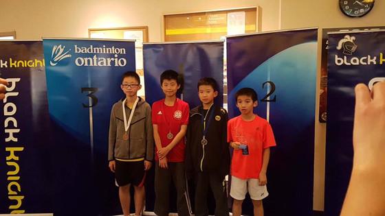 17.18 BLACK KNIGHT Badminton Ontario Jr HP A #5 - Mandarin - U13 U17