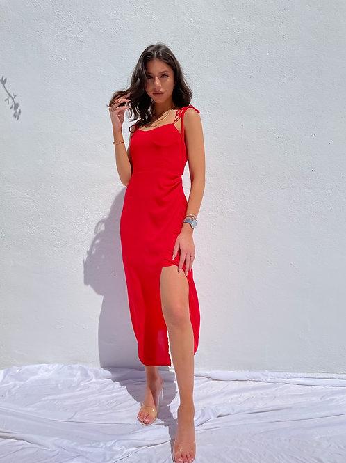 Zaria Red Summer Dress