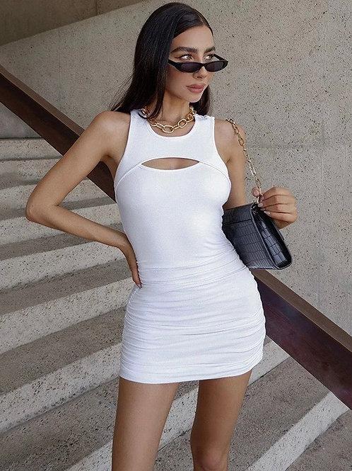 Nahila White Mini Dress
