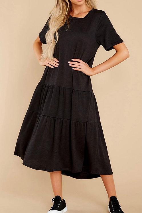 Basic Flare Midi Dress
