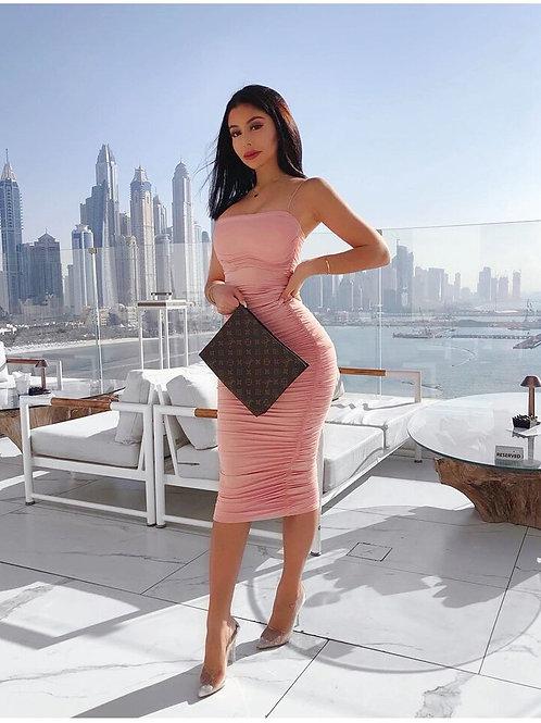 Taylor Bodycon Summer Dress - Pink