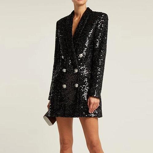 Roma Sequins Blazer Dress