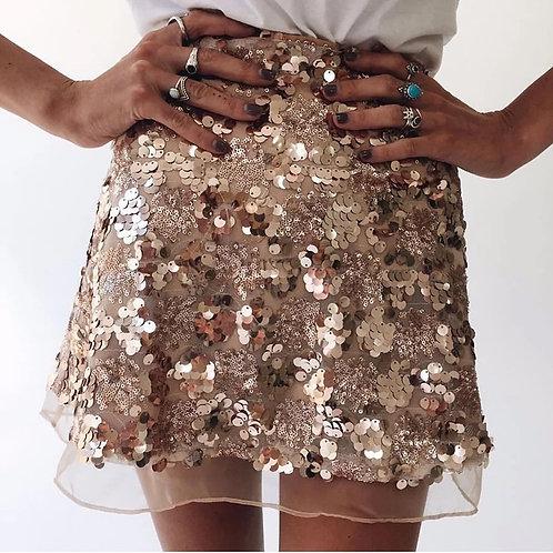 Aira Sequins Mini Skirt