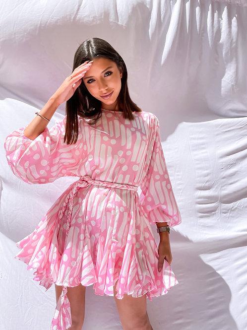 Nova Flare Dress - Pink