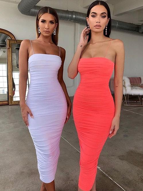 Taylor Bodycon Summer Dress - White