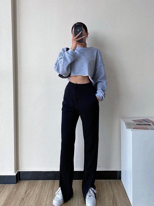 Rachel Split Black Trouser