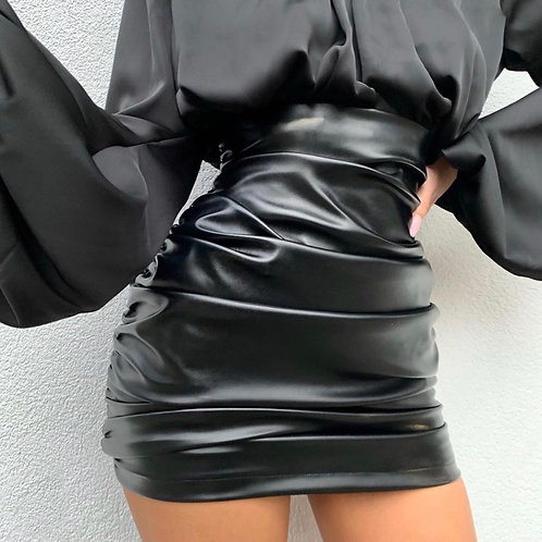 Havana Leather Skirt