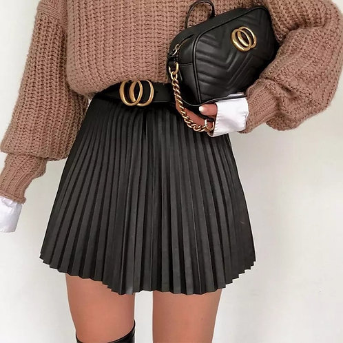 Kenzy Pleated Mini Skirt