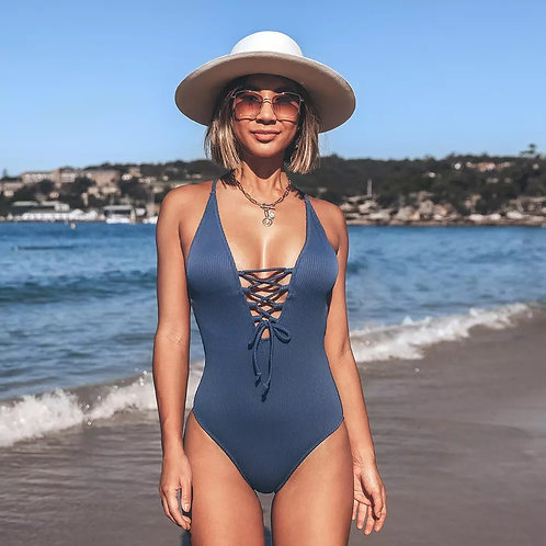 Nick Lace Up Swimsuit