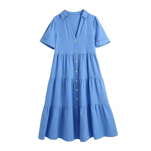 Blue Summer Flare Dress