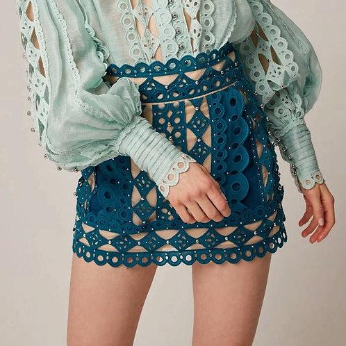 Romia Hollow Out Mini Skirt