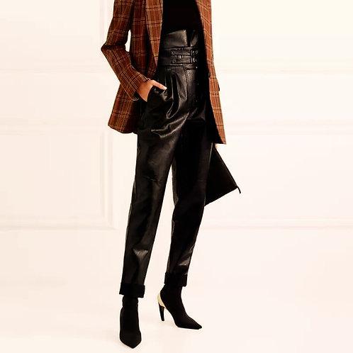 Maja Leather High Waist Pants