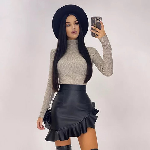 Sandra Leather Skirt