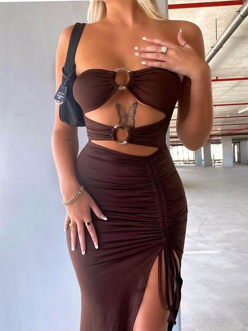 Parisa Brown Summer Dress