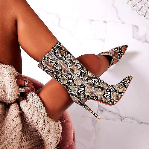 Stephini Snake Print Boots