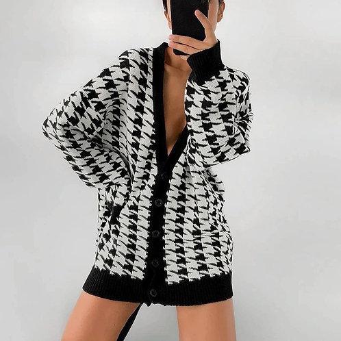 Olga Over Sized Cardigan - Black