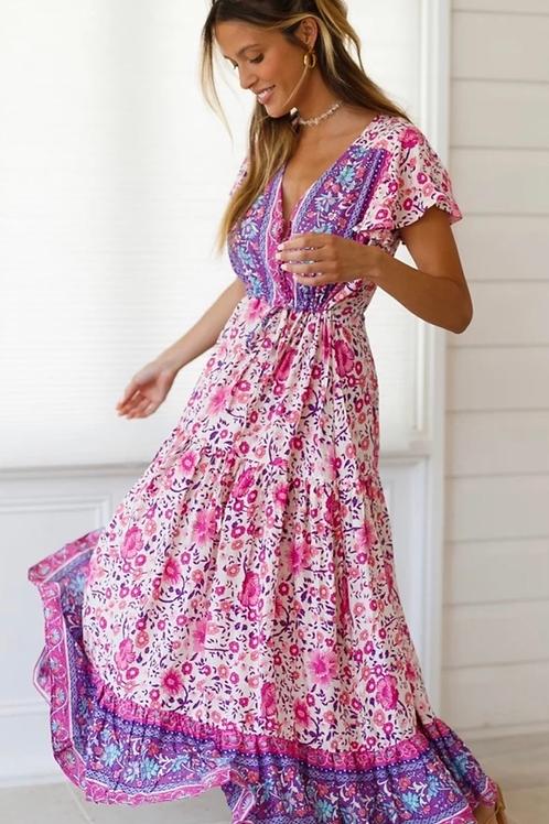 Chloee Floral Midi Dress