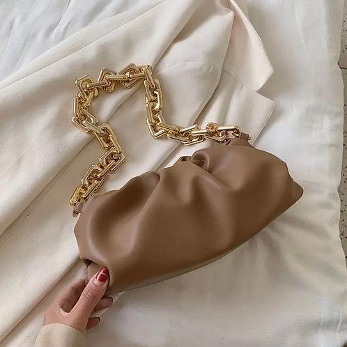 Camel Ruched Bag