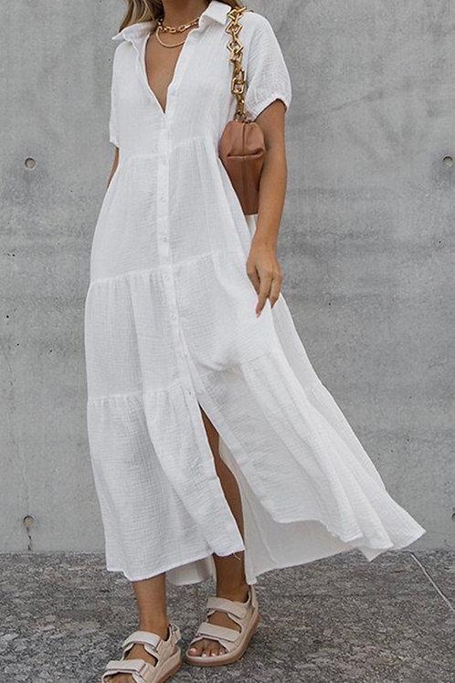 Faya White Shirt Dress