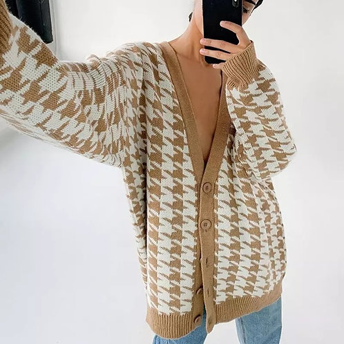 Olga Over Sized Cardigan - Sand