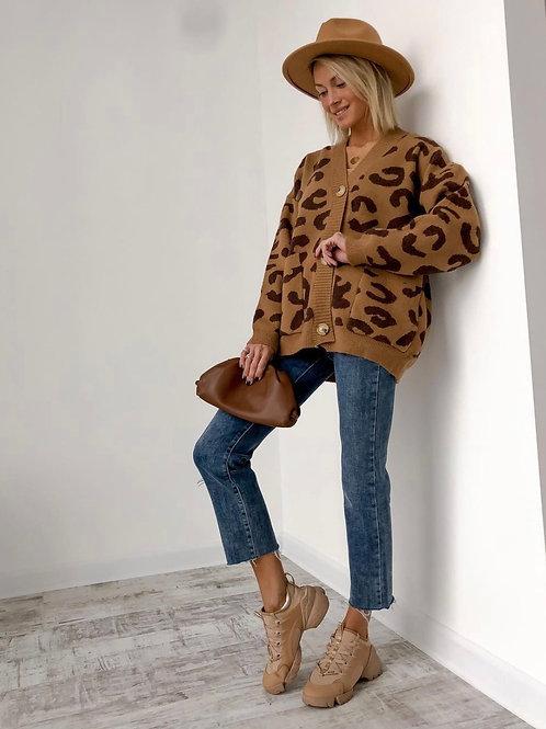 Heilda Leopard Knitted Sweater